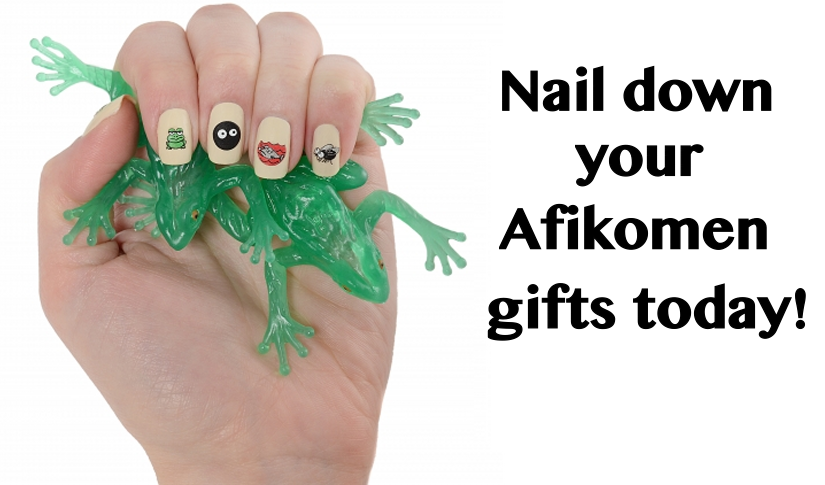 Nail down your Afikomen gifts slide January 2015