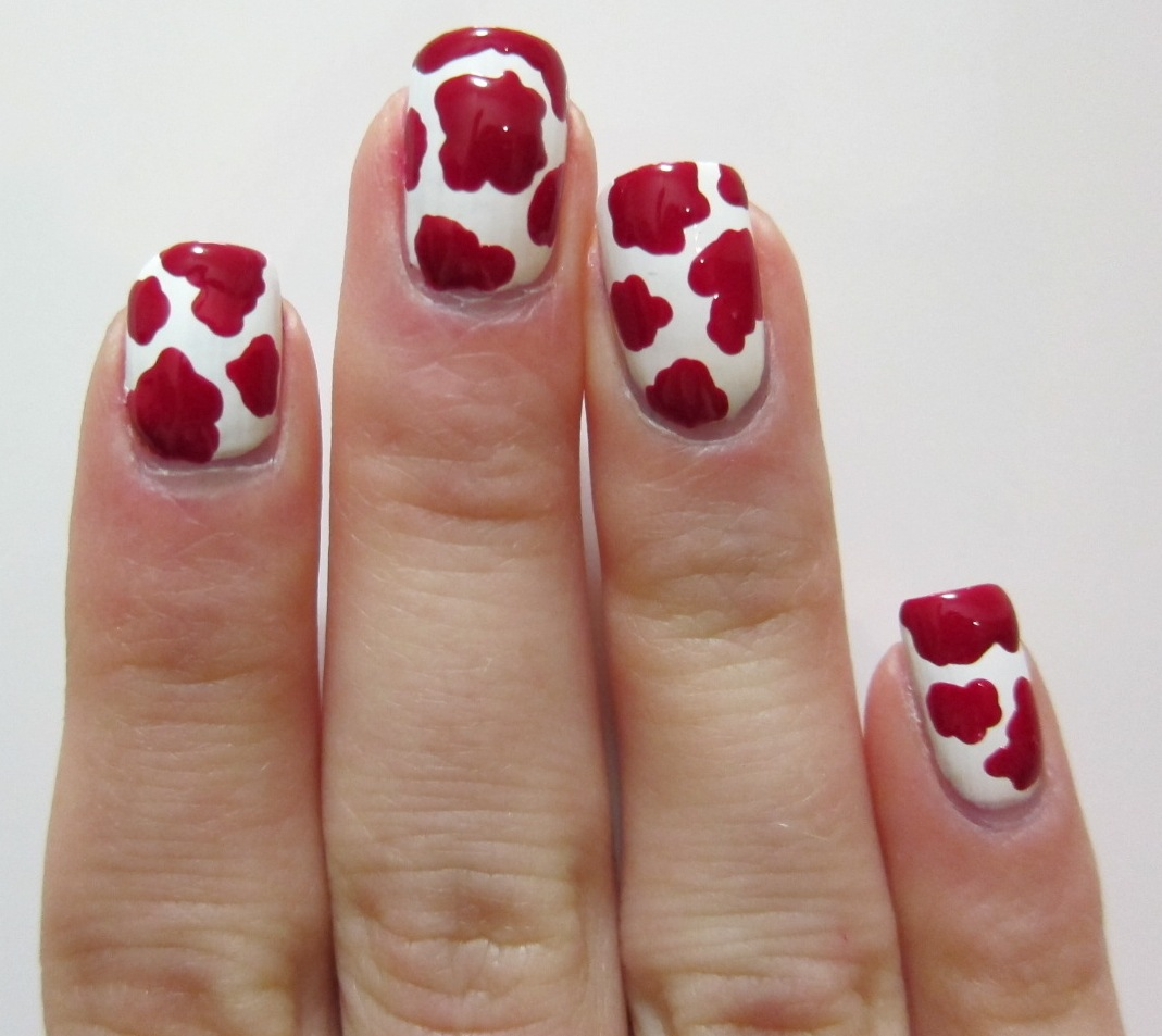 Red Heifer Cow Nail Art